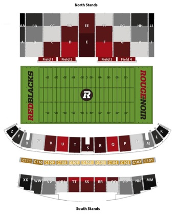 TD Place Seating Charts